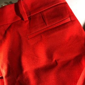 J. CREW Cropped Fitted Red/Orange Pants 🌲
